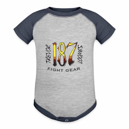 Coloured Trevor Loomes 187 Fight Gear Logo - Baseball Baby Bodysuit