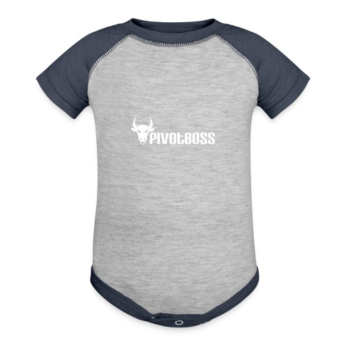 PivotBoss White Logo - Contrast Baby Bodysuit