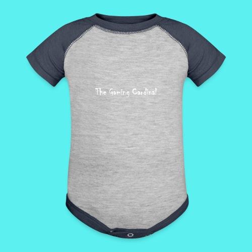 white logo text - Contrast Baby Bodysuit