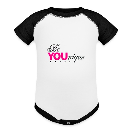 Be Unique Be You Just Be You - Baseball Baby Bodysuit