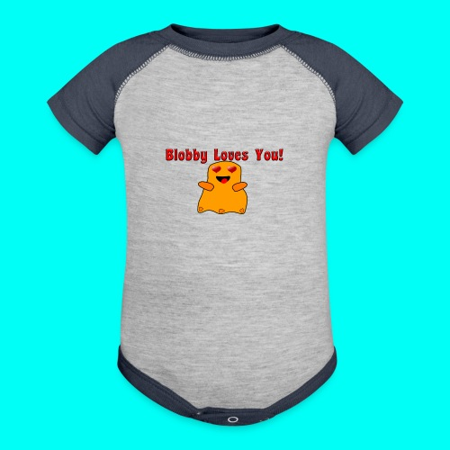 Blobby Loves You Shirt - Contrast Baby Bodysuit