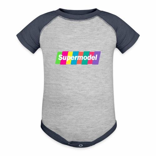 Supermodel Neon Colors - Contrast Baby Bodysuit
