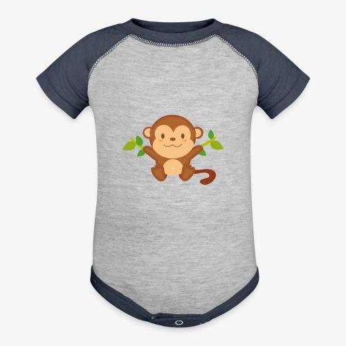 Baby Monkey - Contrast Baby Bodysuit