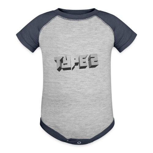 Type 2 - Baseball Baby Bodysuit