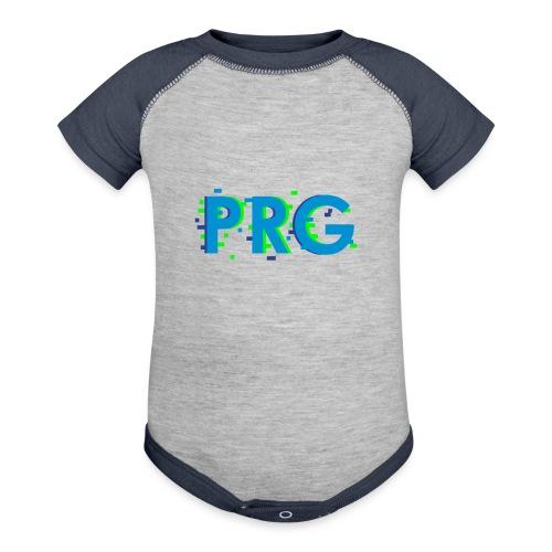 PRG distorted Neon libertarian Design - Baseball Baby Bodysuit