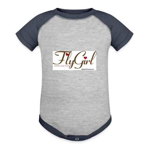FlyGirlTextGray jpg - Baseball Baby Bodysuit
