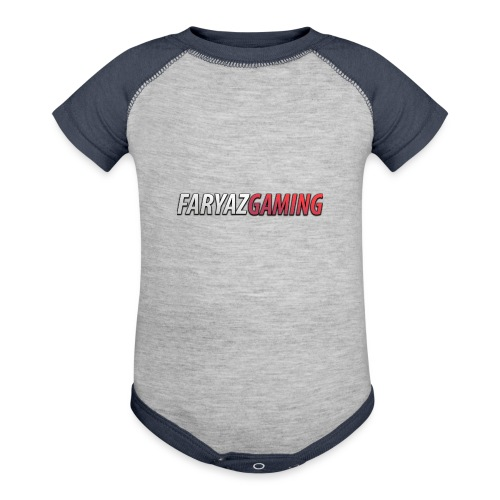 FaryazGaming Text - Contrast Baby Bodysuit
