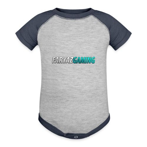 FaryazGaming Theme Text - Baseball Baby Bodysuit