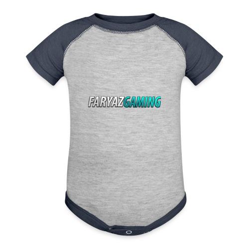 FaryazGaming Theme Text - Contrast Baby Bodysuit