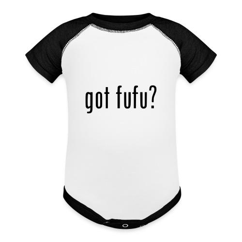 gotfufu-black - Baseball Baby Bodysuit