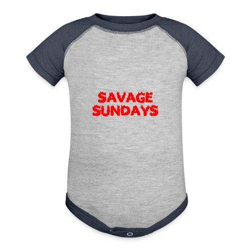 Savage Sundays - Baseball Baby Bodysuit