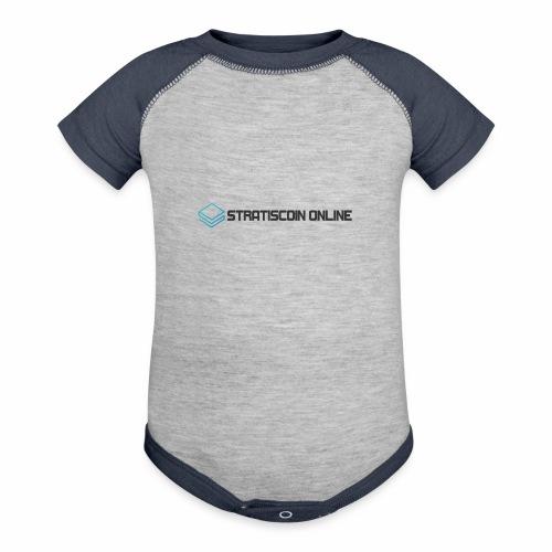 stratiscoin online dark - Contrast Baby Bodysuit