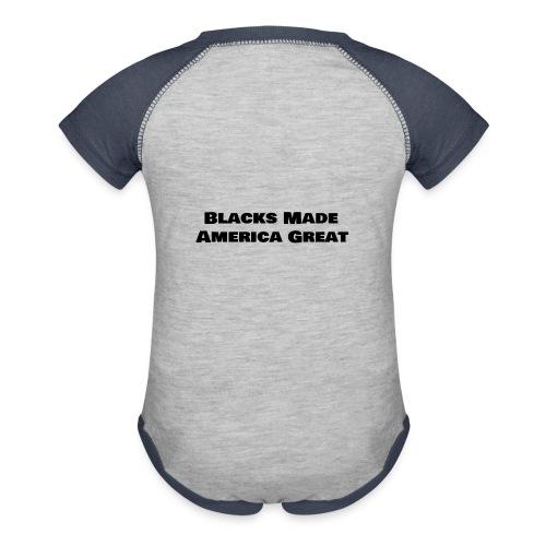 (blacks_made_america) - Baseball Baby Bodysuit
