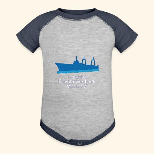 Eisenhower Lock Blue - Contrast Baby Bodysuit