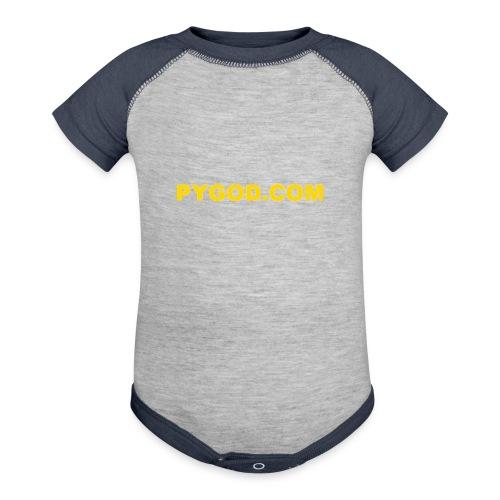 PYGOD COM LOGO - Baseball Baby Bodysuit