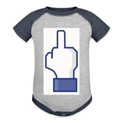 facebook middle finger di - Baseball Baby Bodysuit