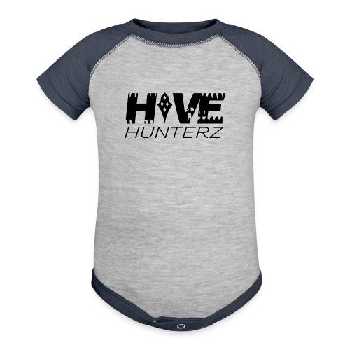 Hive Hunterz Black Logo - Baseball Baby Bodysuit