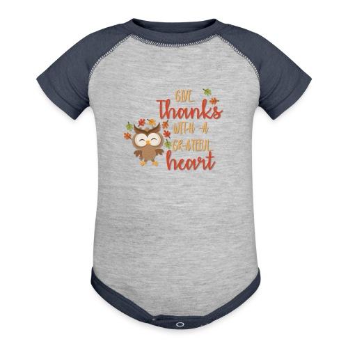 Give Thanks - Baseball Baby Bodysuit