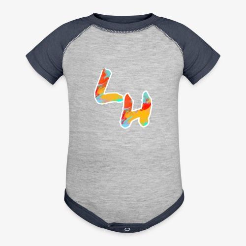 Los Hermanos Logo - Contrast Baby Bodysuit