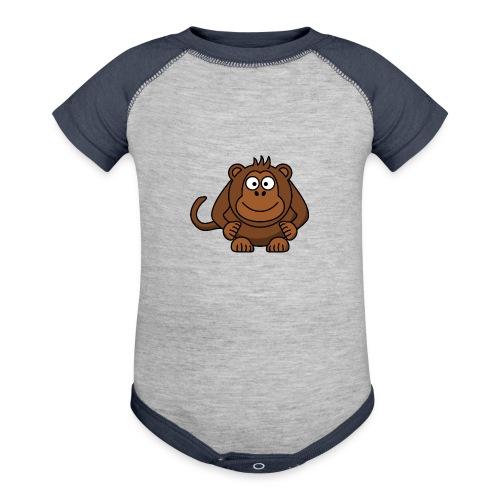 Funny Monkey - Contrast Baby Bodysuit