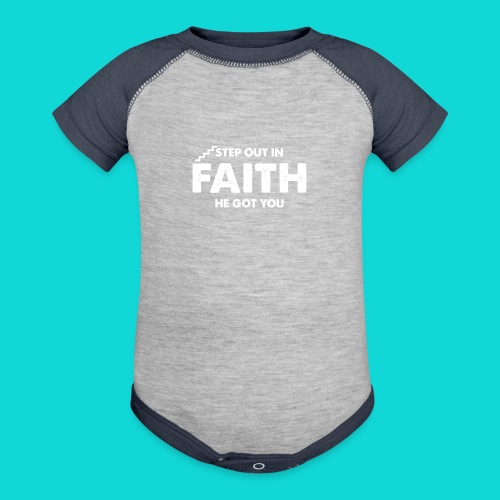 Step Out In Faith - Baseball Baby Bodysuit