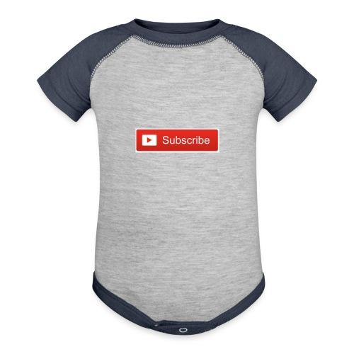 YOUTUBE SUBSCRIBE - Baseball Baby Bodysuit