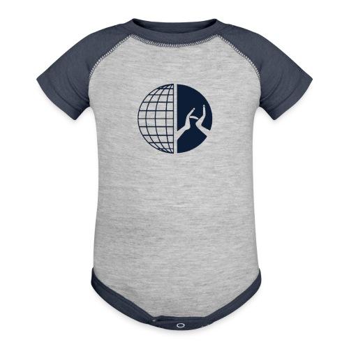 DMI Logo Dark Blue - Baseball Baby Bodysuit