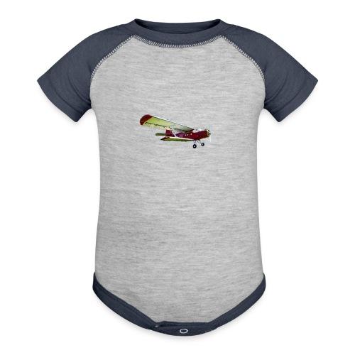 Airplane - Contrast Baby Bodysuit