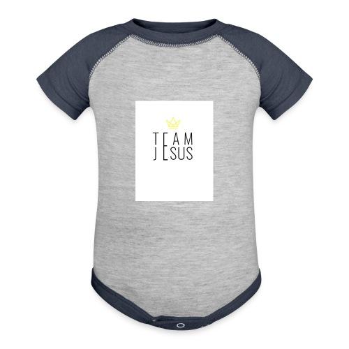 TEAM JESUS3 - Baseball Baby Bodysuit