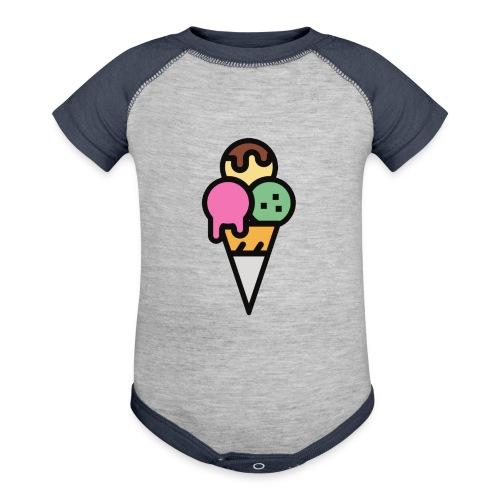Triple Scoop Cone - Baseball Baby Bodysuit