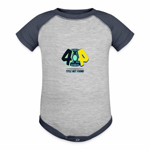 404 Logo - Contrast Baby Bodysuit