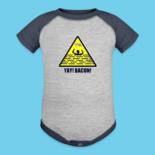YAY Bacon! - Baseball Baby Bodysuit