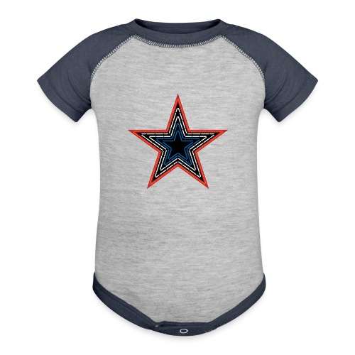 Roanoke Virginia Pride Mill Mountain Star - Contrast Baby Bodysuit