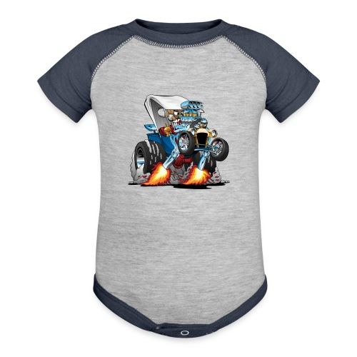 Custom T-bucket Roadster Hotrod Cartoon - Contrast Baby Bodysuit