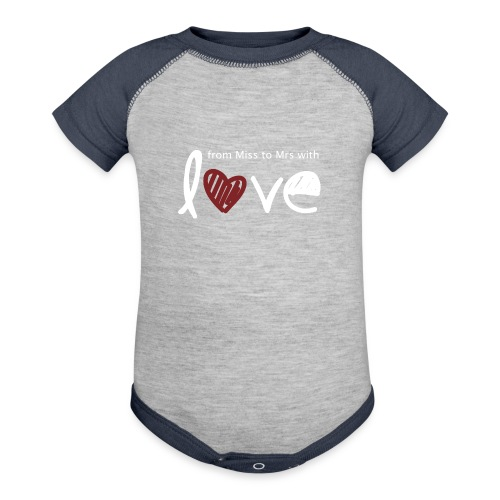 From Miss To Mrs - Contrast Baby Bodysuit