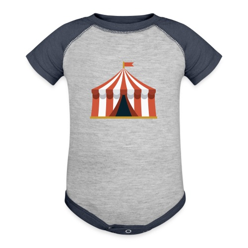 Striped Circus Tent - Baseball Baby Bodysuit