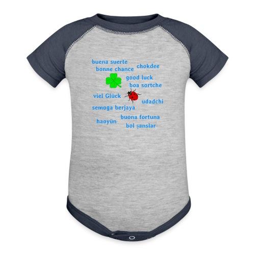Good luck international - Baseball Baby Bodysuit