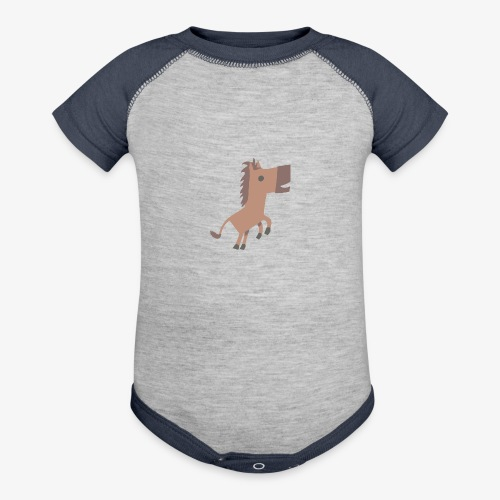 Horse - Baseball Baby Bodysuit