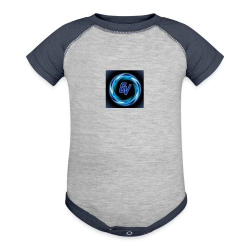 MY YOUTUBE LOGO 3 - Baseball Baby Bodysuit