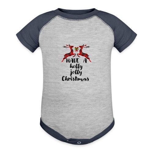 Holly Jolly Christmas - Baseball Baby Bodysuit