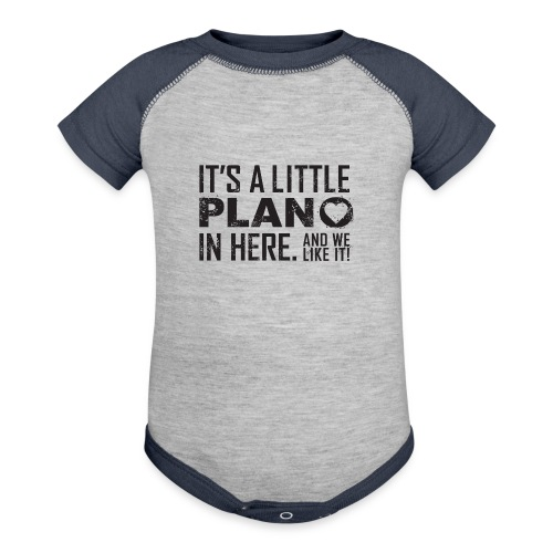 its a little plano tee - Baseball Baby Bodysuit