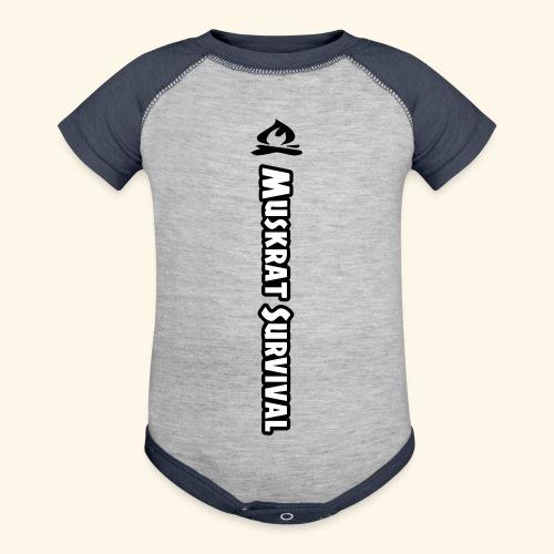 Muskrat Survival Tall - Baseball Baby Bodysuit