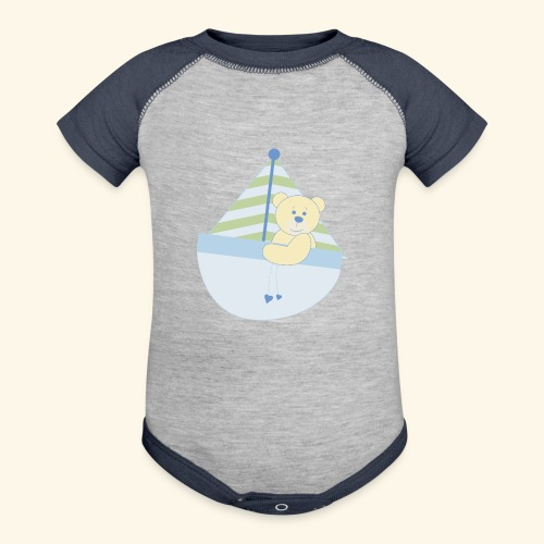 baby ship - Contrast Baby Bodysuit