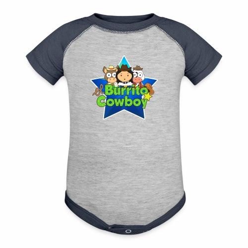 El Burrito Cowboy Star - Baseball Baby Bodysuit