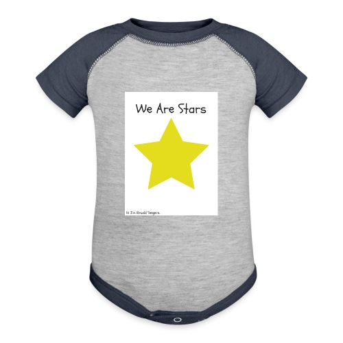 Hi I'm Ronald Seegers Collection-We Are Stars - Contrast Baby Bodysuit
