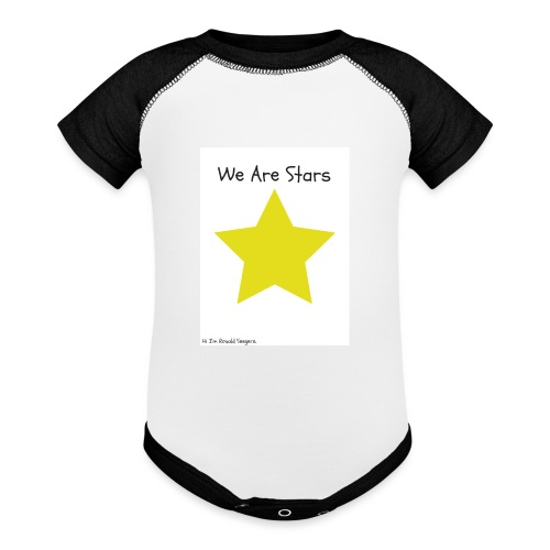 Hi I'm Ronald Seegers Collection-We Are Stars - Baseball Baby Bodysuit