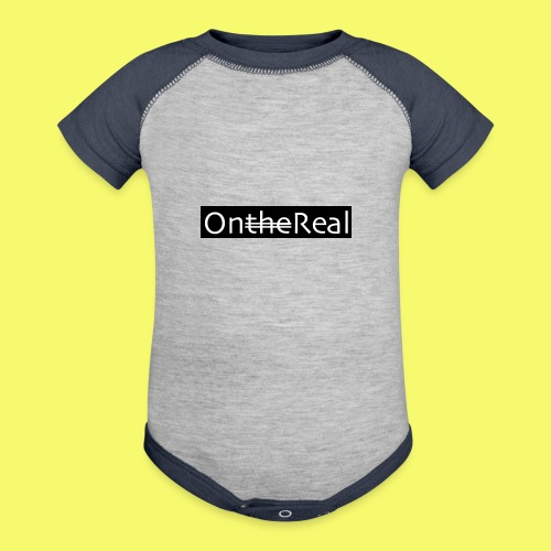 OntheReal coal - Contrast Baby Bodysuit