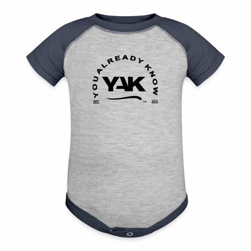 YAK Logos 10 - Baseball Baby Bodysuit