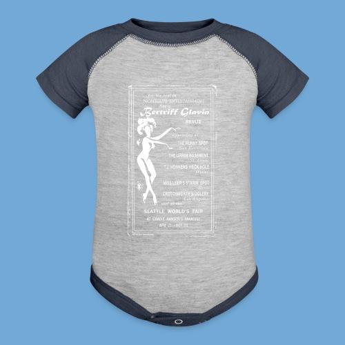 Bertriff Glavin Revues - White - Contrast Baby Bodysuit