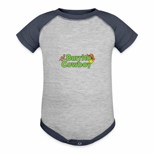El Burrito Cowboy LOGO - Baseball Baby Bodysuit